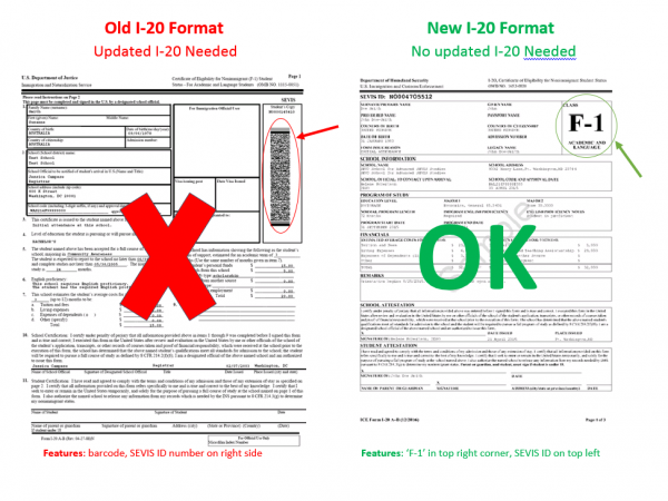 F-1 Students: Updated I-20 Format | The Office of International ...